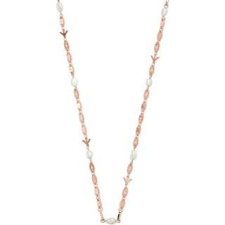 Emporio Armani Luxusní dámský náhrdelník s krystaly a perlami EG3448221