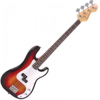 Encore E4SB Bass Guitar 3 Tone Sunburst