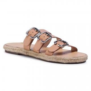 Espadrilky MANEBI - Leather Sandals S 2.0 Y0 Natural W Triple Buckle dámské Béžová 35