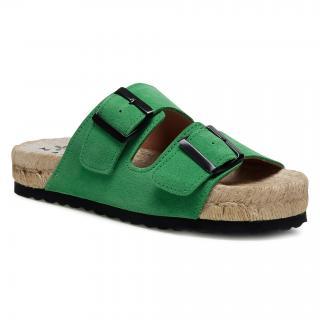 Espadrilky MANEBI - Nordic Sandal M 3.7 R0 Clover Green dámské Zelená 35