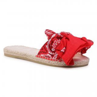 Espadrilky MANEBI - Sandals With Bow F 9.4 J0 Red Bandana dámské Červená 36