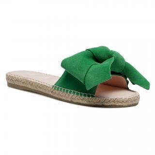 Espadrilky MANEBI - Sandals With Bow M 3.7 J0 Clover Green dámské Zelená 35