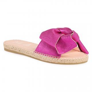 Espadrilky MANEBI - Sandals With Bow O 1.3 J0 Metallic Fuxia dámské Růžová 35