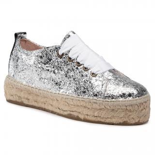 Espadrilky MANEBI - Sneakers D G 0.3 E0 Silver Crackle dámské Stříbrná 36