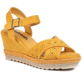 Espadrilky REFRESH - 69484 Yellow dámské Žlutá 37