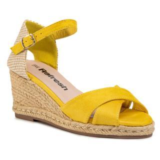 Espadrilky REFRESH - 69490  Yellow dámské Žlutá 38