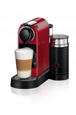 Espresso na kapsle kapslový kávovar krups citiz & milk xn761510 červený