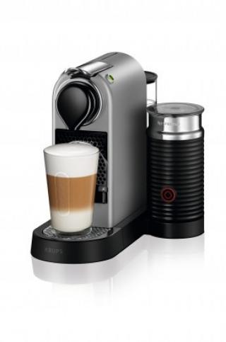Espresso na kapsle kapslový kávovar krups citiz & milk xn761b10 stříbrný