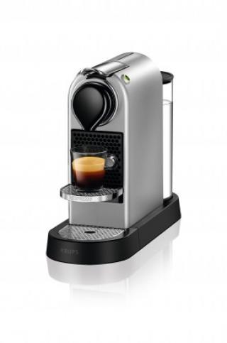 Espresso na kapsle kapslový kávovar krups citiz xn741b10 stříbrný