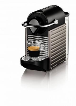 Espresso na kapsle kapslový kávovar krups pixie xn304t10 titanový