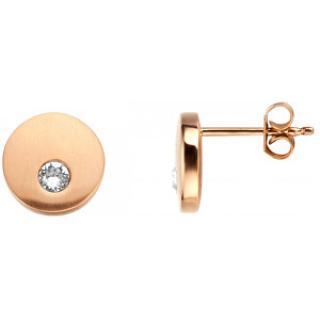 Esprit Bronzové náušnice pecky s krystalem Mind ESER00552200 dámské