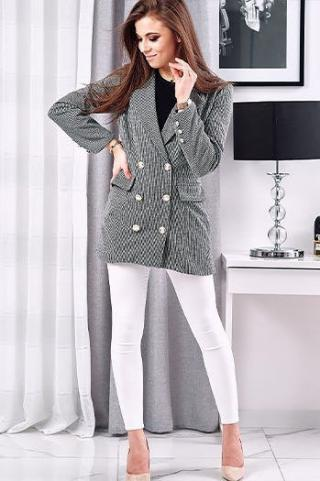 ESTETIC womens jacket black and white PY0027 dámské Neurčeno One size