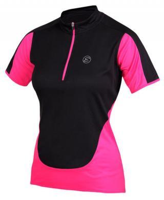 Etape dámský dres NELLY, černá/růžová L L
