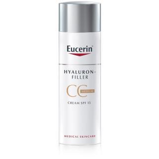 Eucerin Hyaluron-Filler CC krém proti hlubokým vráskám SPF 15 odstín Medium Dark 50 ml dámské 50 ml