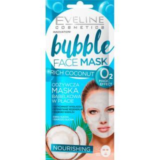 Eveline Cosmetics Bubble Mask Rich Coconut vyživující plátýnková maska s kokosem 1 ks dámské 1 ks