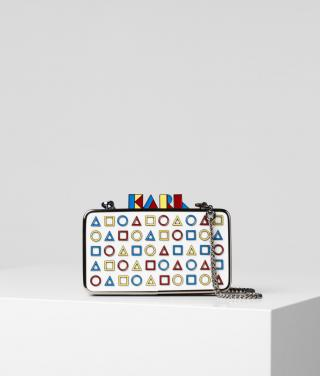Eveningbag Karl Lagerfeld K/Bauhaus Minaudiere dámské různobarevná