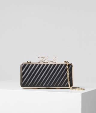 Eveningbag Karl Lagerfeld K/Signature Lock Minaudiere dámské černá