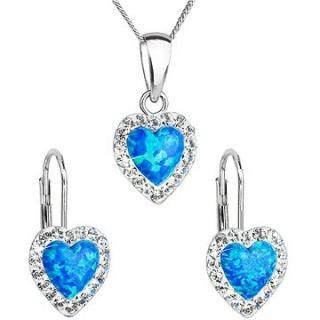 EVOLUTION GROUP 39161.1 modrý synt. opál souprava dekorovaná krystaly Swarovski®