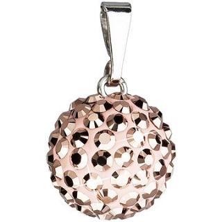 EVOLUTION GROUP Rose gold přívěsek koule dekorovaný krystaly Swarovski 34080.5
