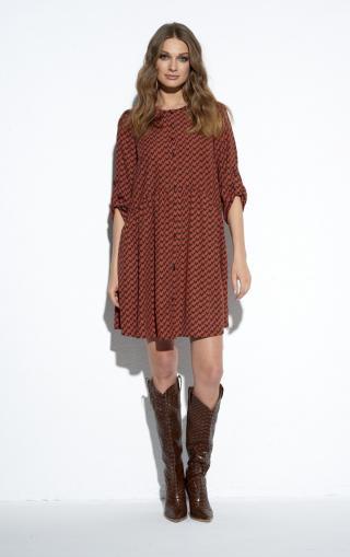 Ezuri Womans Dress 5489 Multicolour dámské wzorzysty 42