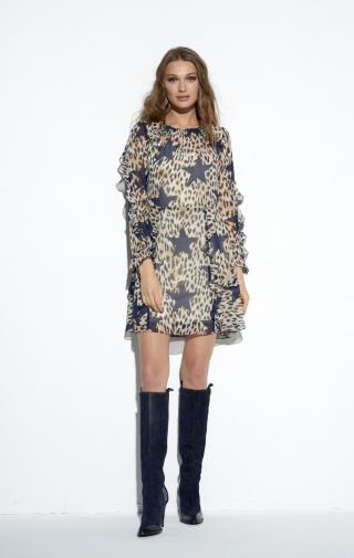 Ezuri Womans Dress 5606 Multicolour dámské wzorzysty 42