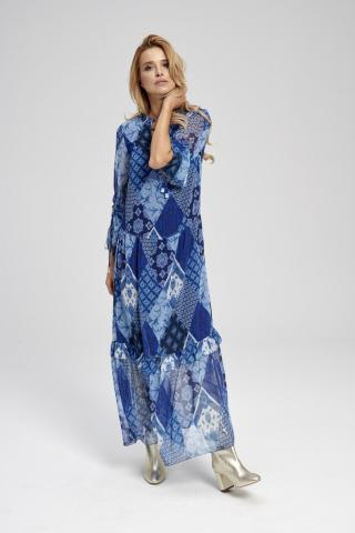 Ezuri Womans Dress 5715 Multicolour dámské wzorzysty 42