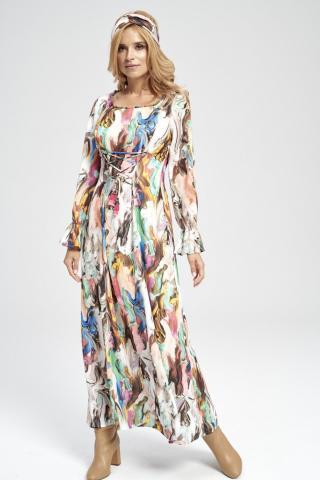 Ezuri Womans Dress 5729 Multicolour dámské wzorzysty 38