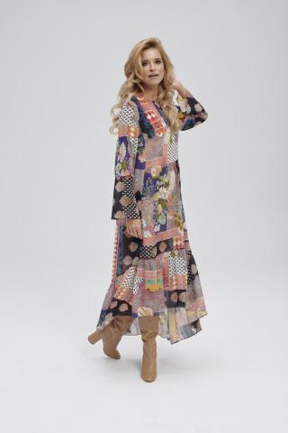 Ezuri Womans Dress 5751 Multicolour dámské wzorzysty 44