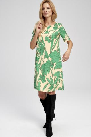 Ezuri Womans Dress 5754 Multicolour dámské wzorzysty 44
