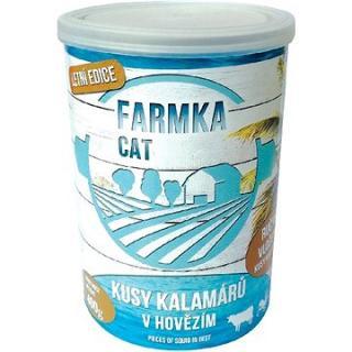 FARMKA CAT kusy kalamárů s hovězím 400g 6ks