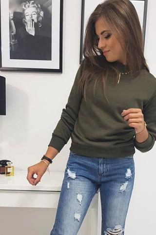 FASHION II womens sweatshirt dark green BY0165 dámské Neurčeno One size