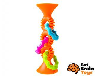 FAT BRAIN chrastítko pipSquiz Loops oranžové mix barev