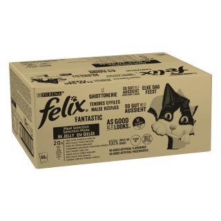 Felix Fantastic Multipack 1 hovězí/kuře/tuňák/treska v želé