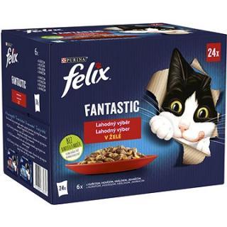 Felix Fantastic s kuřetem, hovězím, králíkem, jehněčím v želé 24 x 85 g
