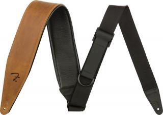 Fender 2,5 Right Height Leather Strap Cognac Black