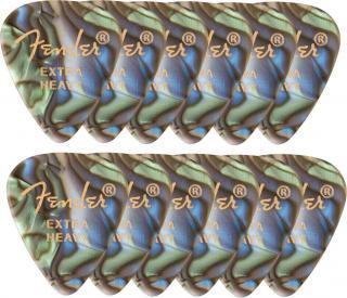 Fender 351 Shape Premium Picks Extra Heavy Abalone 12 Pack