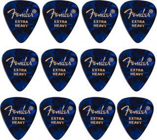 Fender 351 Shape Premium Picks Extra Heavy Blue Moto 12 Pack