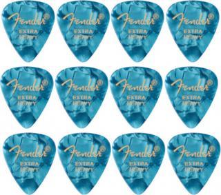 Fender 351 Shape Premium Picks Extra Heavy Ocean Turquoise 12 Pack