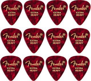 Fender 351 Shape Premium Picks Extra Heavy Red Moto 12 Pack