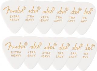 Fender 351 Shape Premium Picks, Extra Heavy White 12 Pack