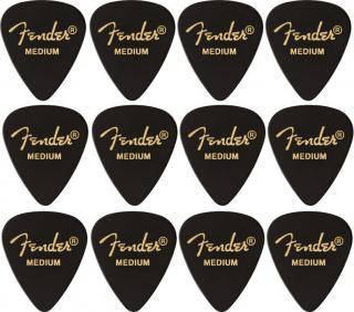 Fender 351 Shape Premium Picks Medium Black 12 Pack
