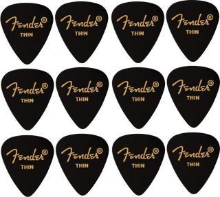 Fender 351 Shape Premium Picks Thin Black 12 Pack
