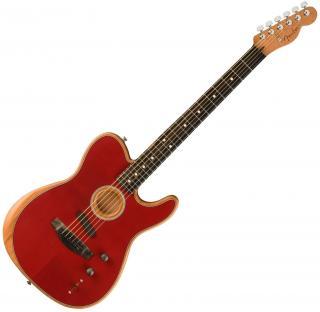 Fender American Acoustasonic Telecaster Crimson Red
