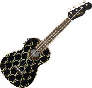 Fender Billie Eilish WN Koncertní ukulele Černá Black Concert Ukulele