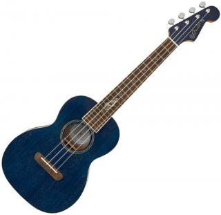 Fender Dhani Harrison Uke WN Tenorové ukulele Sapphire Blue Transparent