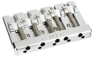 Fender HiMass 5-String Bass Narrow Bridge Assembly Chromová Chrome