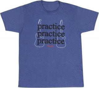 Fender Practice Hudební tričko Blue S