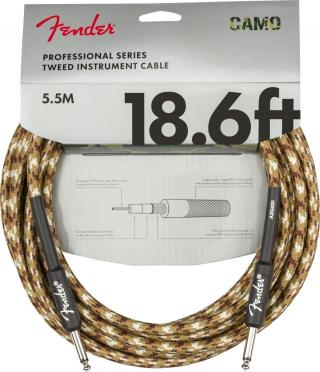 Fender Professional Series Instrument Cable Straight/Straight 18,6 Desert Camo Yellow