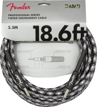 Fender Professional Series Instrument Cable Straight/Straight 18,6 Winter Camo Black