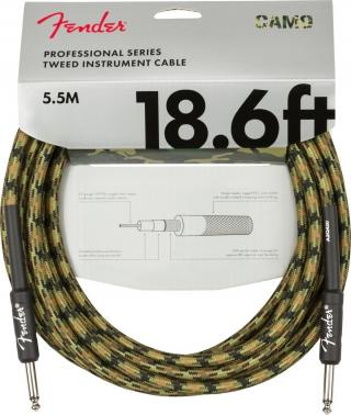 Fender Professional Series Instrument Cable Straight/Straight 18,6 Woodland Camo Green